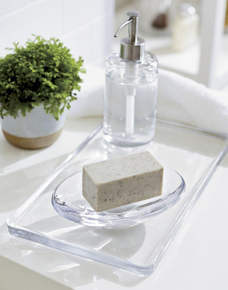 Clear Glass Bathroom Accessories