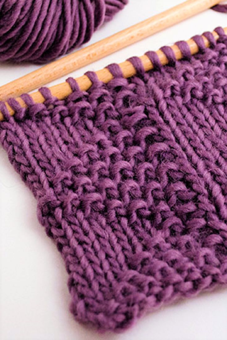 How to knit the triangle stitch pattern