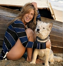 Jennifer Aniston is against puppymills and pet stores that sell their puppies. She only ADOPTS.