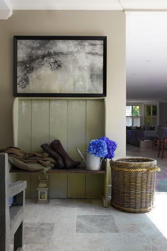 Love the muted scheme & those grey stone floors look amazing. - www.naosfloors.com  www.naosfloors.com