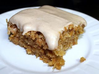 Gooey Cinnamon Carrot Poke Cake - Julie's Eats & Treats