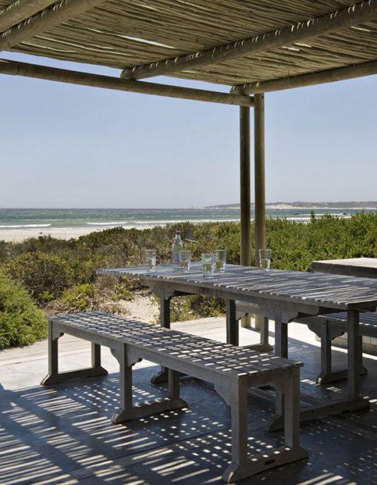 Beach house outdoors