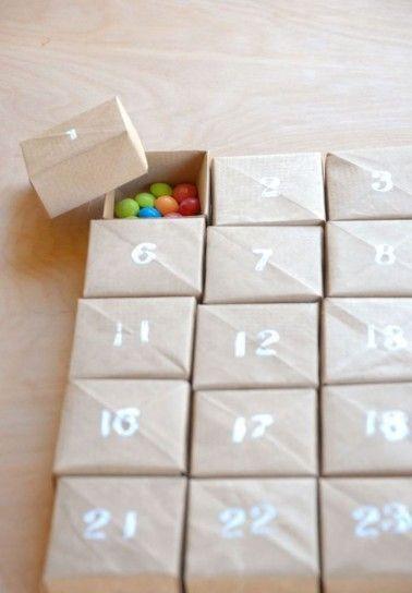 Pacchi numerati con caramelle