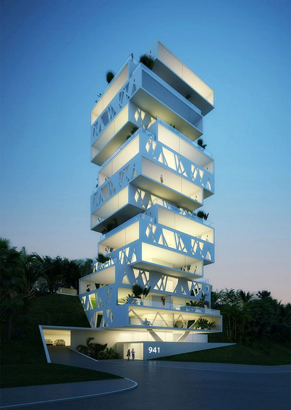 """Dutch architects designed this luxury apartment called """"The Cube"""" in the eastern district of Beirut."""