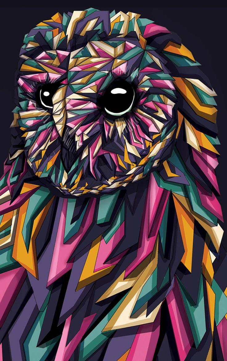 """Geometric Owl"" par Blackbunny"