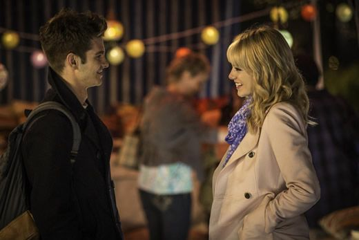 Peter Parker and Gwen Stacy in the Amazing Spiderman 2