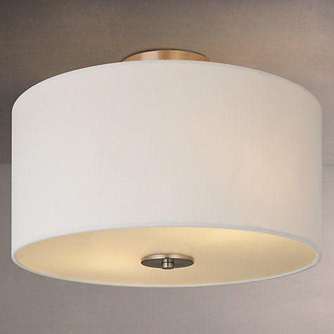 Buy John Lewis Jamieson Semi Flush Ceiling Light, White Online At  Johnlewis.com