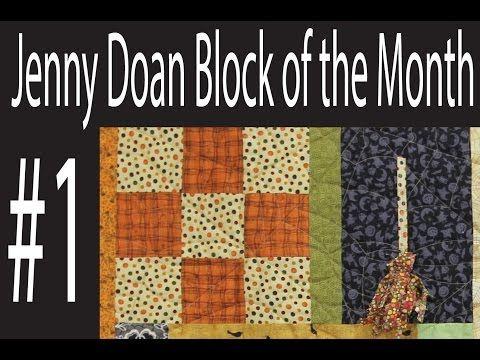 Jenny Doan Block of the Month (BOTM) #4 - Missouri Star Quilt Company - YouTube