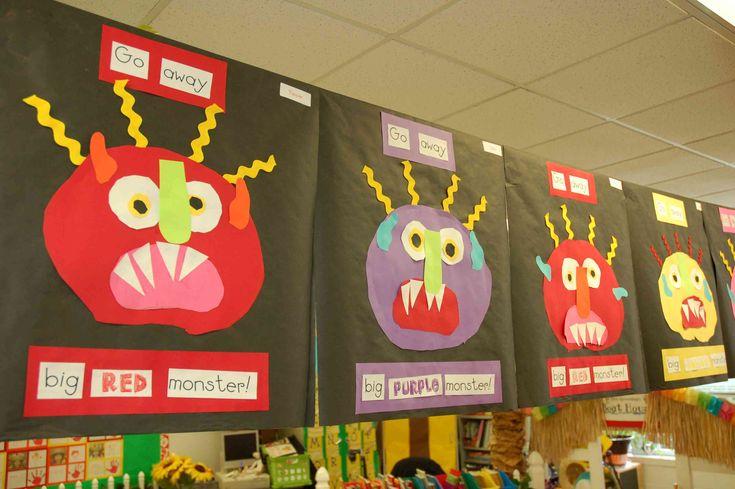 "I love ""Go Away Big Green Monster"" so I'm totally using this idea to make a Go Away color book."