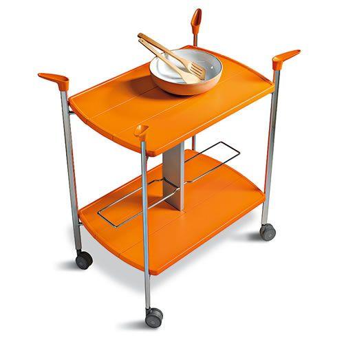 折りたたみキッチンワゴンSKIPPER(幅66奥45高65)/イタリア組立家具 ... 折りたたみキッチンワゴンSKIPPER/イタリア組立家具SPEEDY[幅66奥45高65
