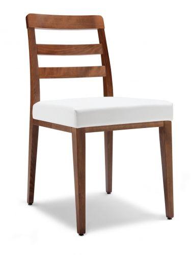 FLORA #sedia in legno massello, #stile classico, seduta imbottita, rivestimento in stoffa o ecopelle, ideale per la #zona pranzo di #casa, #caffetteria e #ristorante. 100% #MadeinItaly, in #offerta #prezzo #sconto 40% su www.chairsoutlet.com