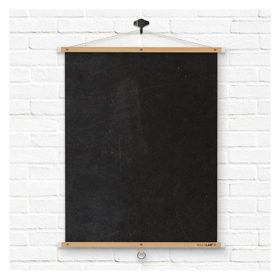 Roll Up Chalkboard / Blackboard By WALLLAB On Etsy. , Via