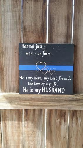 Police Wife  Police Husband  Man In Uniform  Thin Blue Line by NelsonsKnottyBits