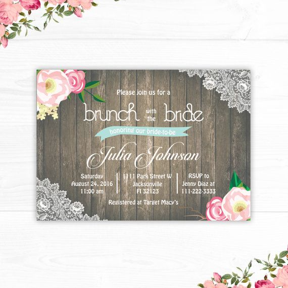 Burlap and Lace Bridal Shower invitation Bridal by CutePaperStudio