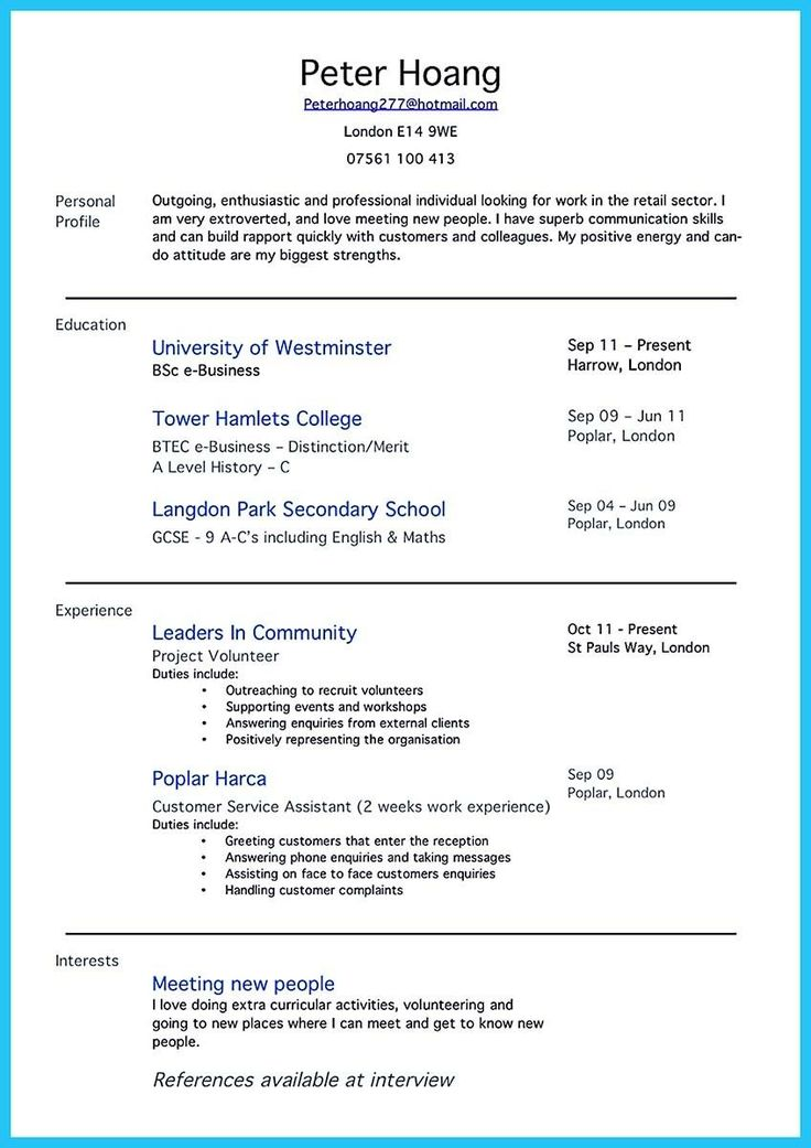 Pin by Ashley Peele on Bank resume examples Resume no