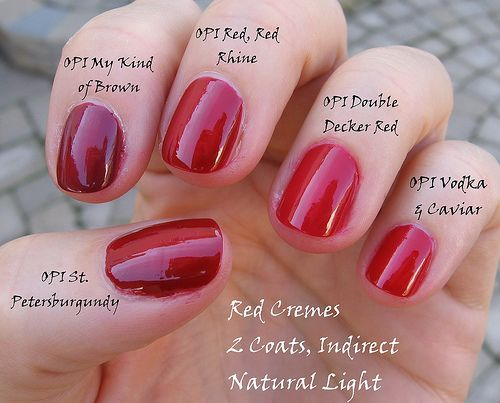 OPI Double Decker Red
