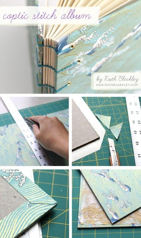 photo essay: making a coptic stitch handmade book by @Ruth Bleakley