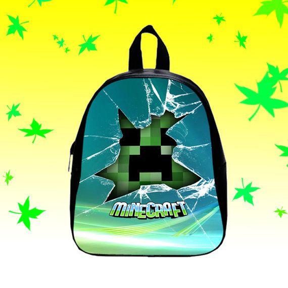 Minecraft Creeper Glass Broken   Backpack/SchoolBags by FACIALBAG