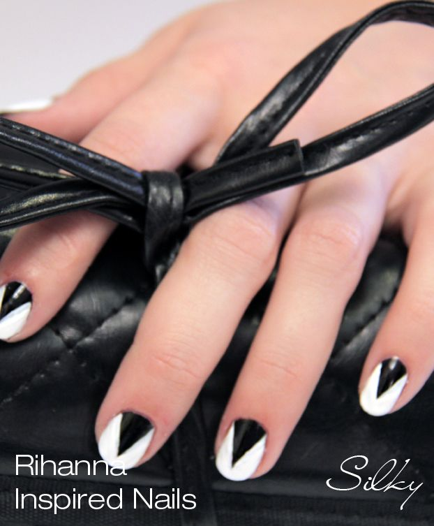 96 best rihanna nails nail art designs tutorial videos by nded rihanna inspired nail polish art design from her recent video check out prinsesfo Images