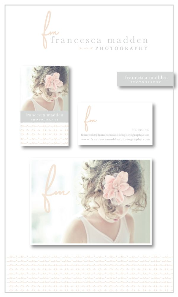 francesca madden photography branding   deluxemodern designBusiness Cards With Photo, Cursive Initials, Airy Feelings, Gorgeous, Deluxemodern Design, Photography Branding, Francesca Madden, Pretty, Photography Logo Branding