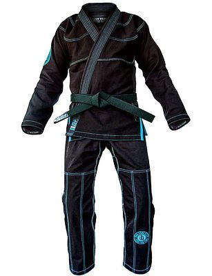 War Tribe Kevlar Reinforced GI Black-Teal Jiu Jitsu Judo Training Competition