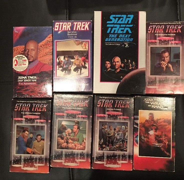 Lot of 8 Star Trek Movies TV Series Episodes VHS Vintage Tapes Sci-Fi Movies