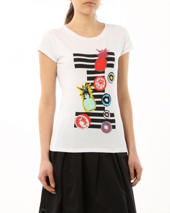 T-shirt with appliqué details Iceberg