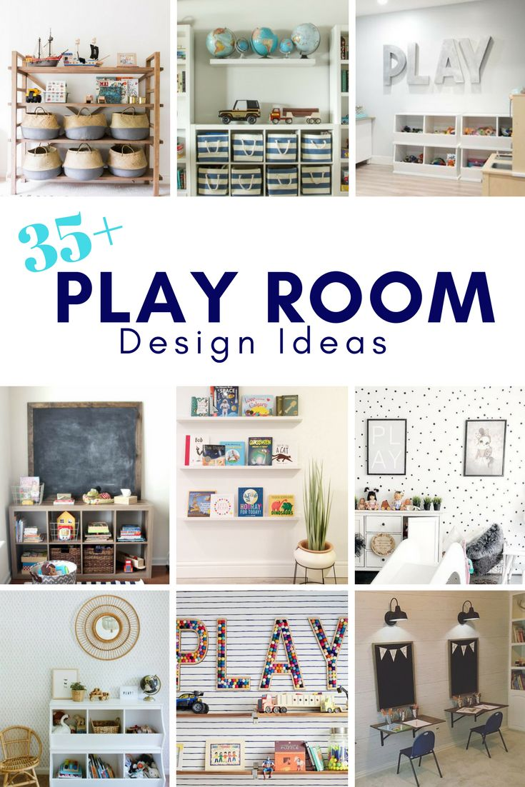 35 Playroom Design Ideas to inspire you while organizing and purging your kids toys - Brooklyn Berry Designs
