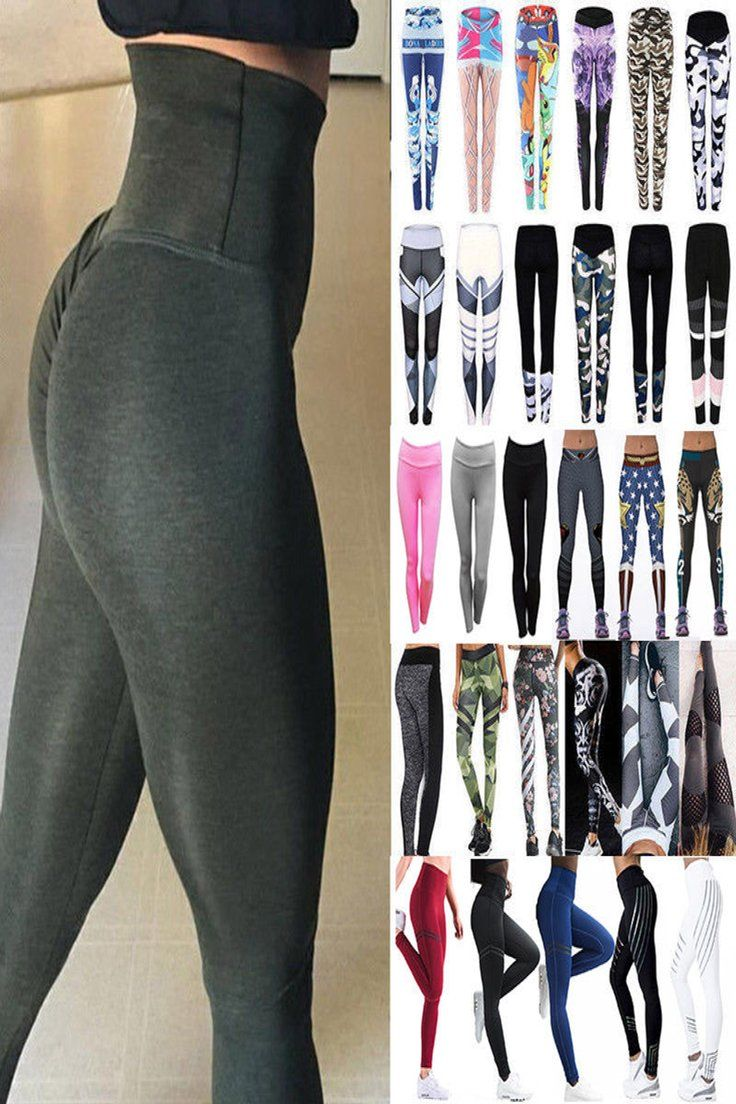 Womens Yoga Gym Pants Fitness Leggings Joggers Training Exercise Sport Trousers