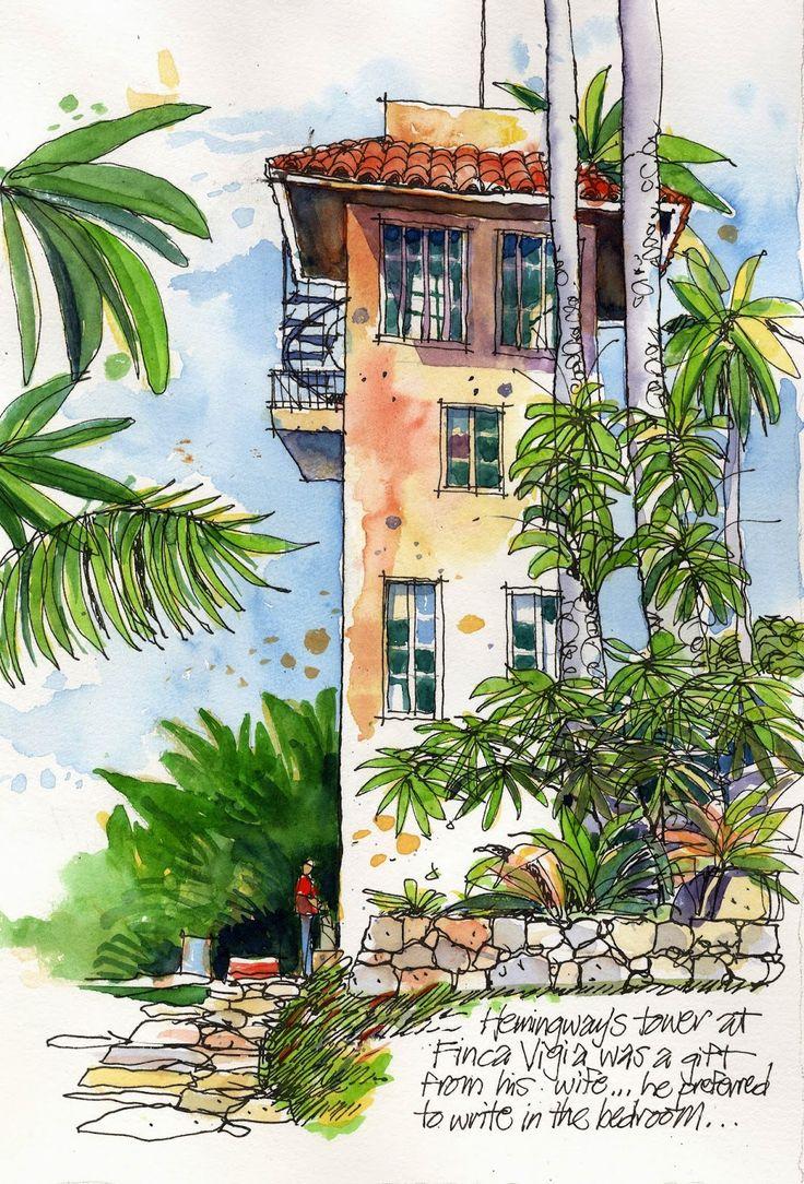 Urban Sketchers: Hemingway's Cuba