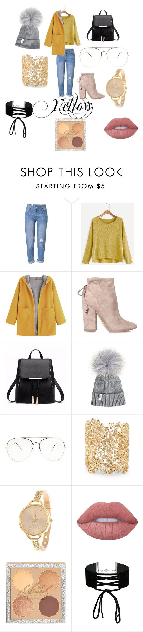 """""""Geen titel #25"""" by romy-ny on Polyvore featuring mode, WithChic, Kendall + Kylie, Sole Society, Lime Crime en Miss Selfridge"""