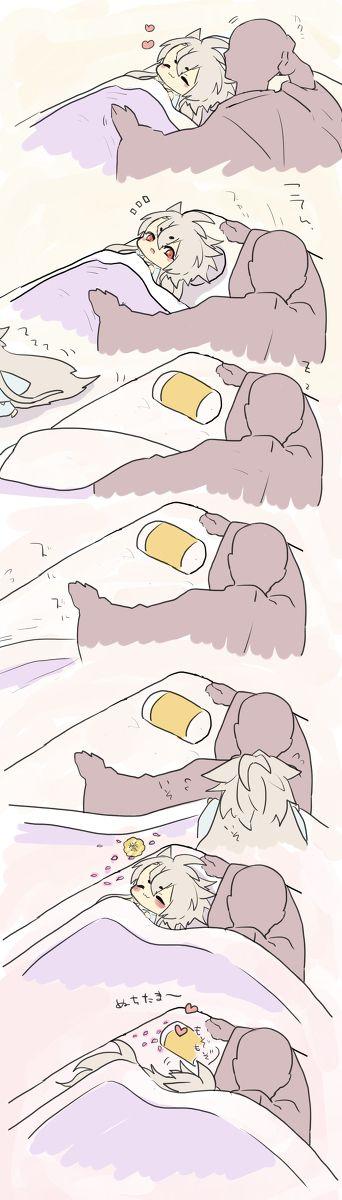 子狐丸を寝かしつけるつもりが