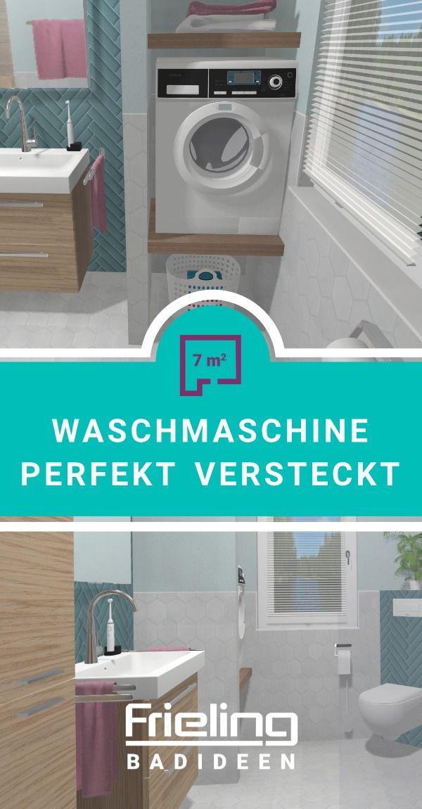 Das Scandi Badezimmer Mit Waschmaschine Badmobel Waschmaschine 7 Qm Badmobel Mit Stauraum In 2020 Waschmaschine Badezimmer Wasche