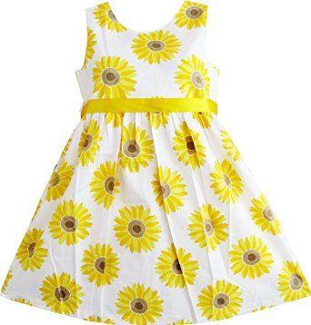 Beautiful Yellow Sunflower Dress for girls  #beautifulgirlsdresses #sunflowerdress