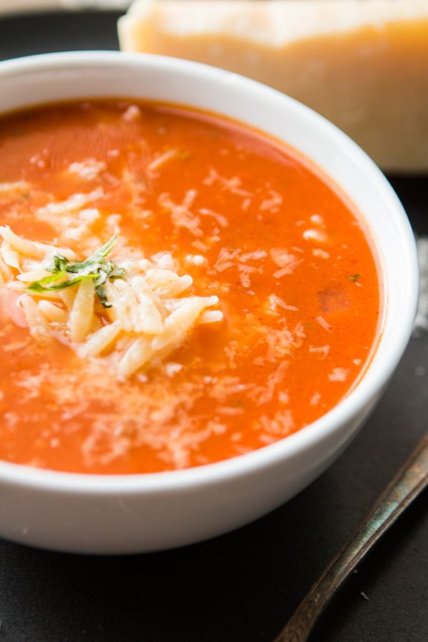 On a whim one evening this Pinner decided to make a Zupas Copycat Tomato Basil Orzo Soup and the results were fantastic!!