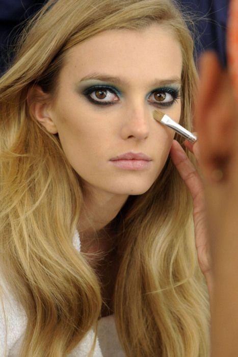 Aqua blue & black eyes. Intense-ness. dress up anyone? :)