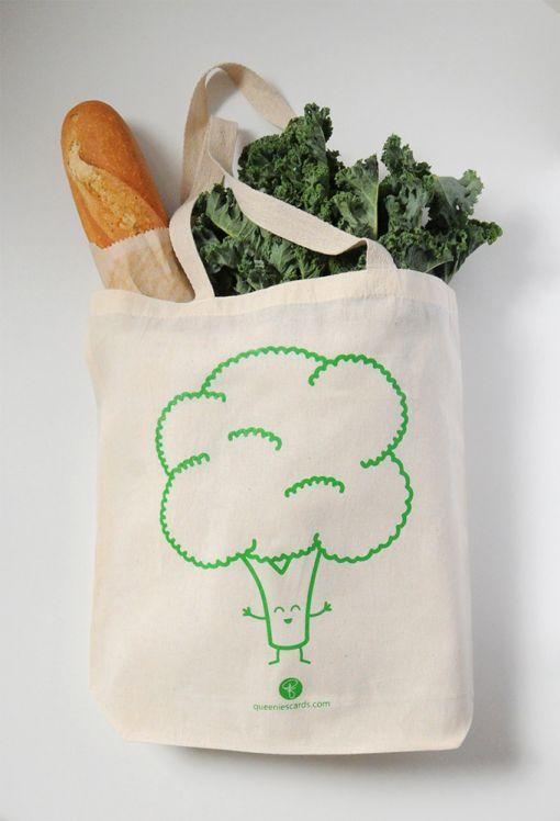 Broccoli Tote Bag | queeniescards.com