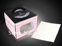 16 * 16 * 12 см ну вечеринку торт упаковка кекс коробки украшение для свадебного торта чехол торт держатель 50 шт./лот