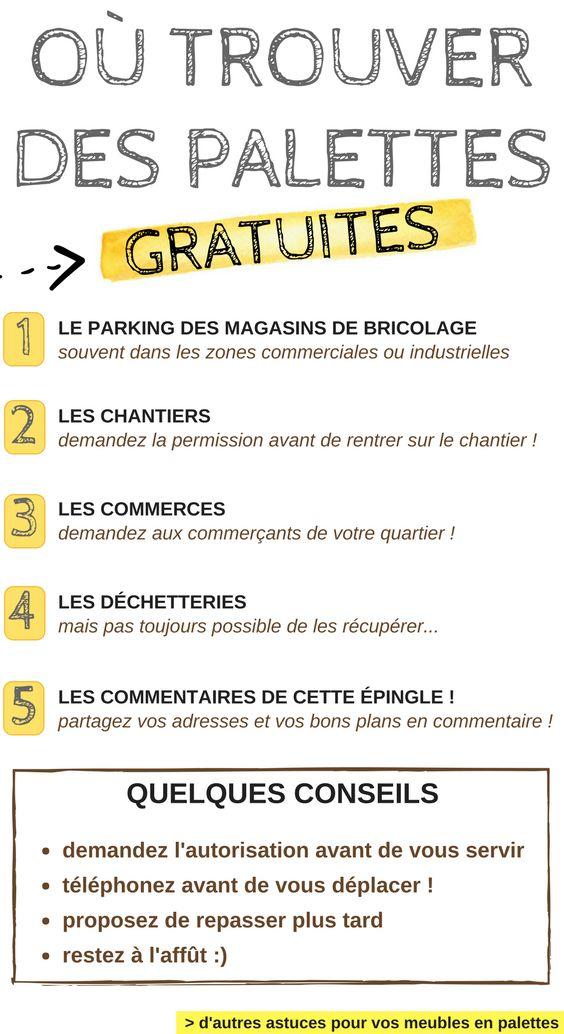 Où Trouver des Palettes Gratuites ! La Liste + Conseils  http://www.homelisty.com/meuble-en-palette/#ou-trouver-acheter-des-palettes