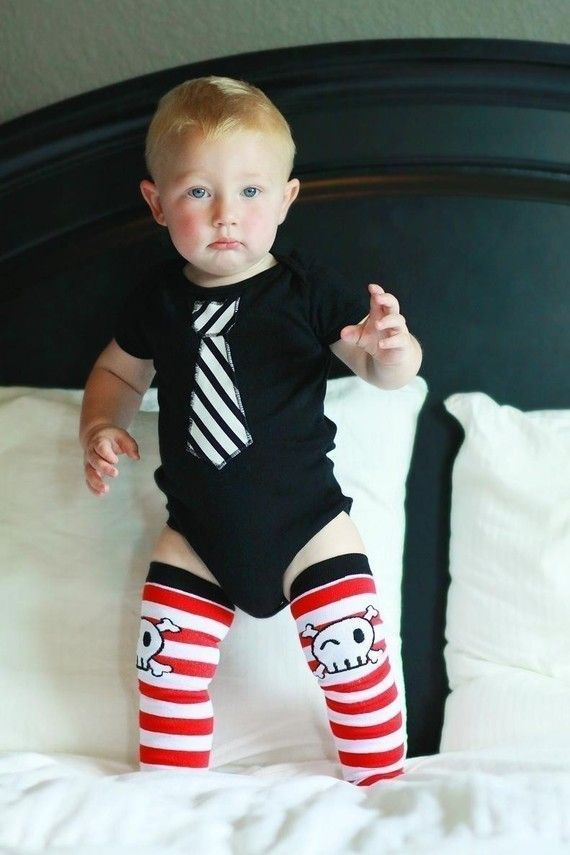 KOOL KID TIE--2 piece appliquéd onesie and leg warmer combo--sizes 3/6, 6/12, 12/18, 18/24 mos-- you choose any Kool Kid Legs in my shop | $26.00