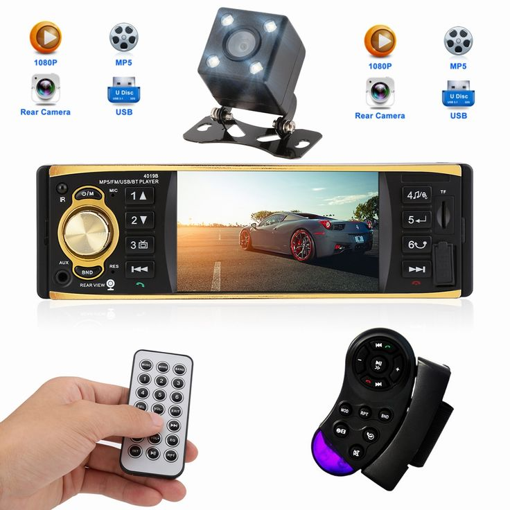 37.99$  Buy here - 4.1 Inch 1 Din 12V Car Radio Stereo Player With  Bluetooth Remote Control MP3 MP5 Car Audio Player USB AUX FM Radio 4019B   #magazineonlinewebsite