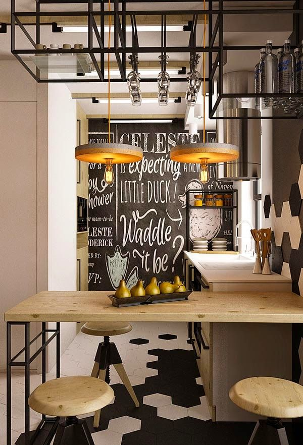 M s de 25 ideas incre bles sobre cocinas industriales en for Decoracion piso estilo retro