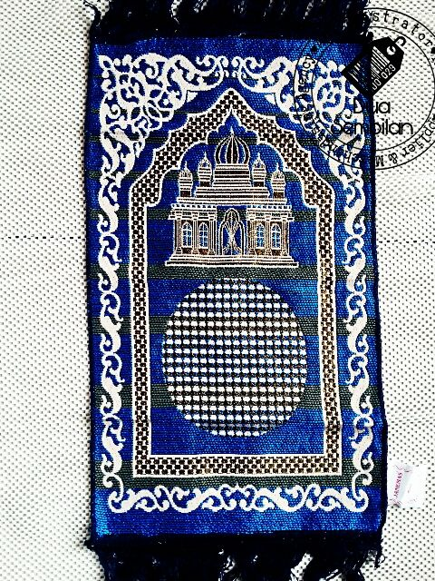 Sajadah | Sejadah Tiga Perempat | Sejadah 3/4 | Three Quarter | Muslim Prayer Mat | Blue Prayer Rugs | Contemporary & Colourful | Various Motifs & Designs | High Quality | Wedding Door Gifts | Malay Wedding Souvenirs| Dua Sembilan | Duaa Sembilann