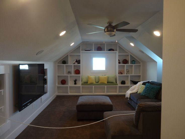Bonus Room shelving idea