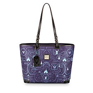 Commemorate your 2017 Disney Parks visit carrying our leather Leisure Shopper Tote by Dooney & Bourke. Featuring a fanciful Parks icon pattern, it's a bountiful bag of daydreams and runaway fantasies.