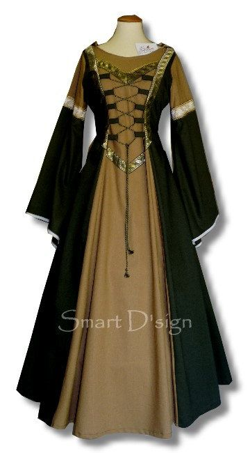 Medieval Garment with Hood Maiden Dress Gothic Size 12 ...