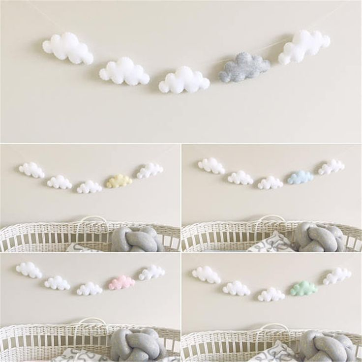 PINJEAS 5pc/set Simple Cloud Garland Ornament Kid's Bedroom Hanging Wall Decoration Nursery Decor Christmas/Birthday Best Gifts -in Wind Chimes & Hanging Decorations from Home & Garden on Aliexpress.com | Alibaba Group