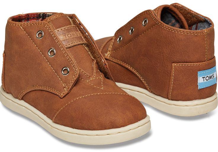 Brown Synthetic Tiny TOMS Paseo-Mids SIZE 8- NEED for Winter shoes!
