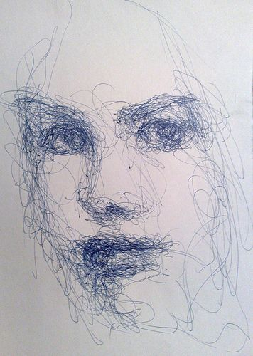 Hey WMIS Artists! Get a load of this quick sketch pen portrait. This is the kind of expressive line quality we practice to achieve.