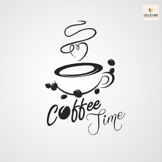 Koffie sjabloon sticker keuken muurdecoratie